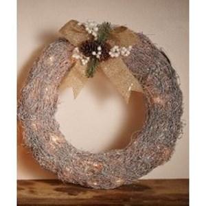 Изображение Рождественский декор венок серебро