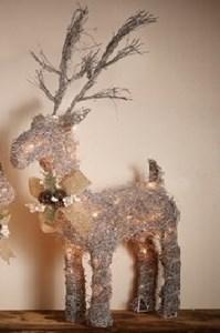 Изображение Рождественский декор Олень серебро