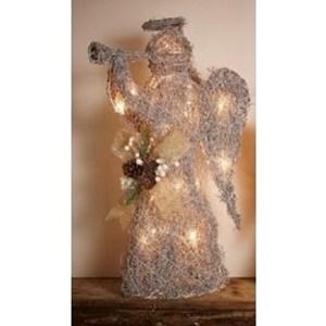 Изображение Рождественский декор Ангел серебро