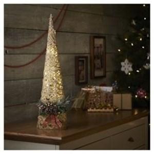 Изображение Декор  рождественский в стиле кантри средний золото