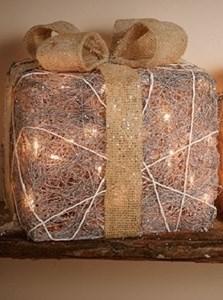 Изображение Декор Подарок в стиле кантри серебро маленький