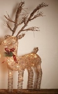 Изображение Рождественский декор Олень золото