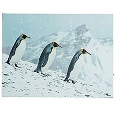 Изображение Арктические пингвины картина с подсветкой