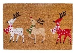 Изображение Коврик Рождественские олени