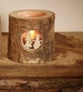 Изображение Подсвечник деревянный Зимний в ассортименте