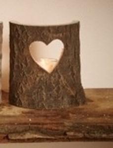 Изображение Подсвечник деревянный Лесной половинка в ассортименте