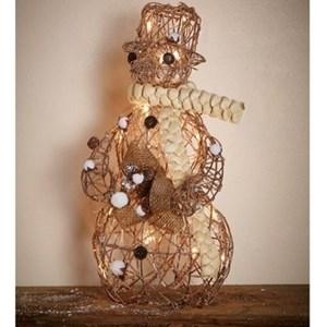 Изображение Декор  рождественский Снеговик золото