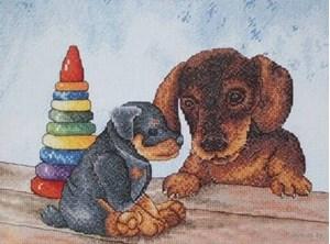 Изображение Два щенка