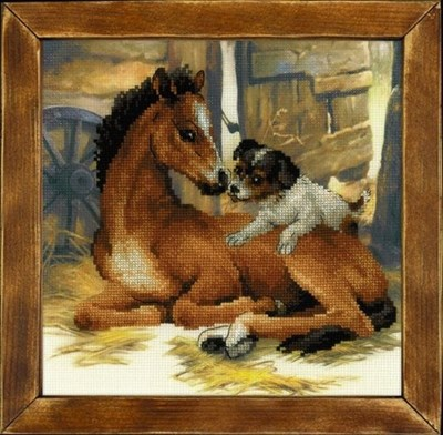 Изображение Жеребёнок и щенок