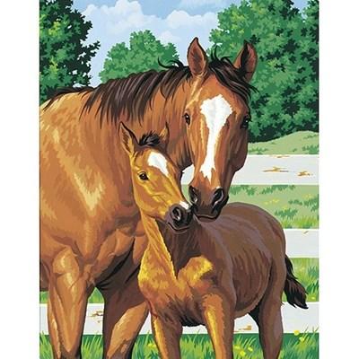 Изображение Лошадь с жеребёнком