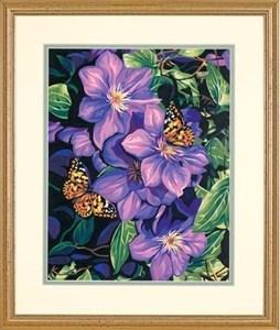 Изображение Клематисы и бабочки