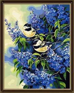 Изображение Птицы и сирень