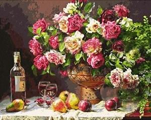 Изображение Натюрморт с розами