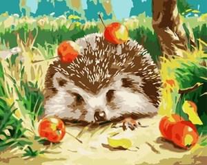Изображение Ежик с яблоками