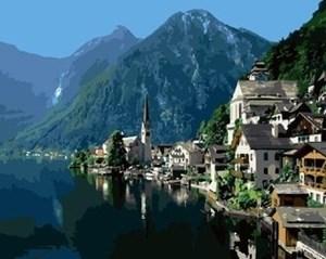 Изображение Город в горах.