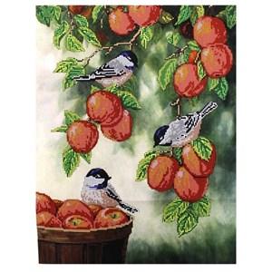 Изображение Птички на яблоках