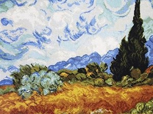 Изображение Кипарисы Винсент ван Гог