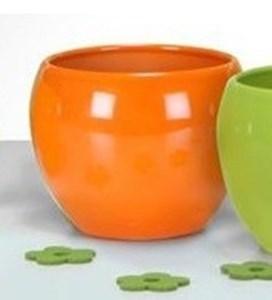 Изображение Кашпо 740 Blazing Orange D 17cм, керамика