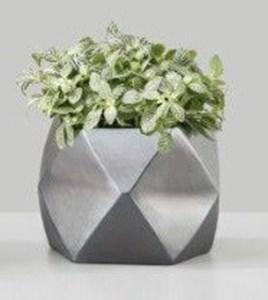 Изображение Кашпо 997 Graphite Metallic D20cм, керамика