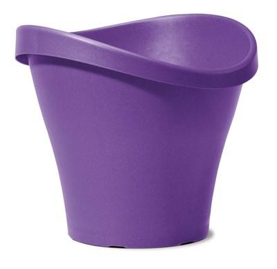 Изображение Емкость д/цветов пластиковая 251 D48 см натуральный фиолетовый
