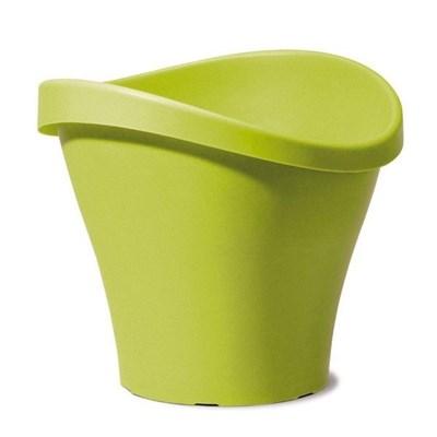 Изображение Емкость д/цветов пластиковая 251 D35 см натуральный зеленый