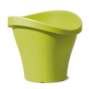 Изображение Емкость д/цветов пластиковая 251 D48 см натуральный зеленый