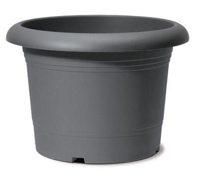 Изображение Емкость д/цветов пластиковая 322 D40 см серый металлик