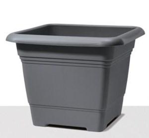 Изображение Емкость д/цветов пластиковая 326 D33 см серый металлик