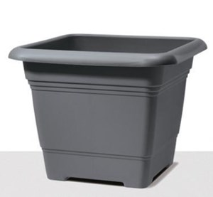 Изображение Емкость д/цветов пластиковая 326 D40 см серый металлик