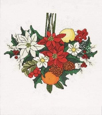 Изображение Пуансеттия сердце. Декабрь