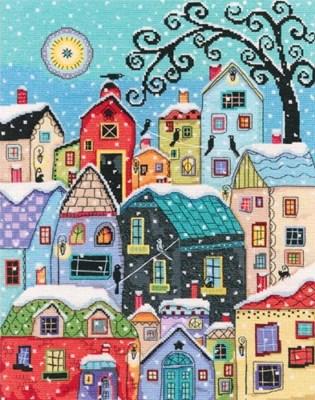 Изображение Тихо падает на крыши снег