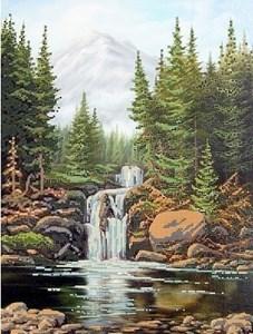 Изображение Камни и водопад