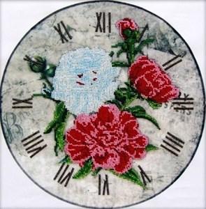 Изображение Часы-Пионы