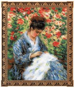 Изображение Мадам Моне за вышивкой