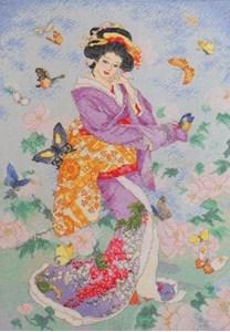 Изображение Гейша и бабочки (Butterfly Geisha)