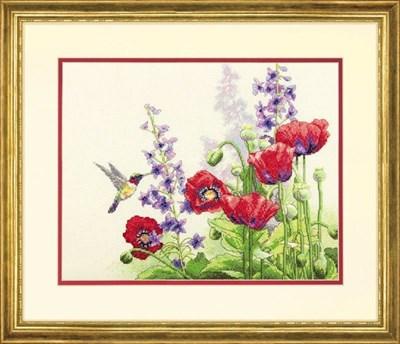 Изображение Колибри и маки (Hummingbird and Poppies)