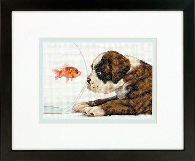 Изображение Щенок и рыбка (Dog Bowl)
