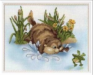 Изображение Бобер и лягушка
