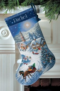 Изображение Рождественские сани (Рождественский чулок)