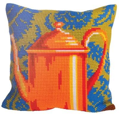 Изображение Оранжевый чайник (Fabulous Orange Tea Pot) (подушка)