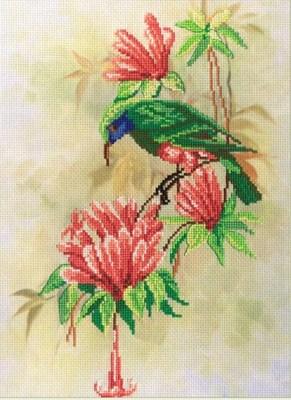 Изображение Птичка с цветами