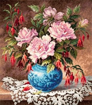 Изображение Розы и фуксии