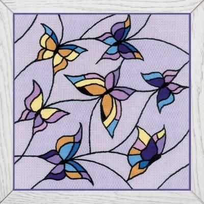 Изображение Витраж. Бабочки (Подушка, панно)