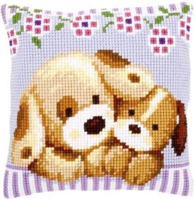 Изображение Обнимающиеся собачки (подушка) (Cuddling Dogs)
