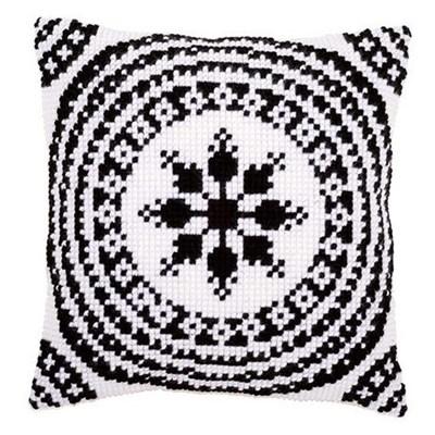 Изображение Чёрно-белый орнамент 1 (подушка) (Black and White Cushion)