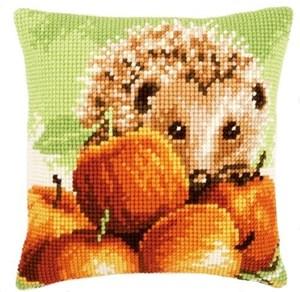Изображение Ёжик в яблоках (подушка) (Hedgehog)