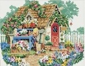 Изображение Домик в цветах