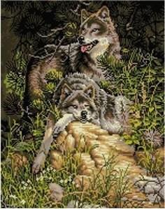 Изображение Семейство волков