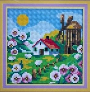 Изображение Деревенская мельница. Весна