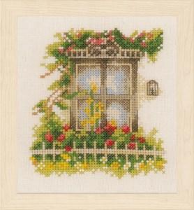 Изображение Окно с цветами (Window with flower)